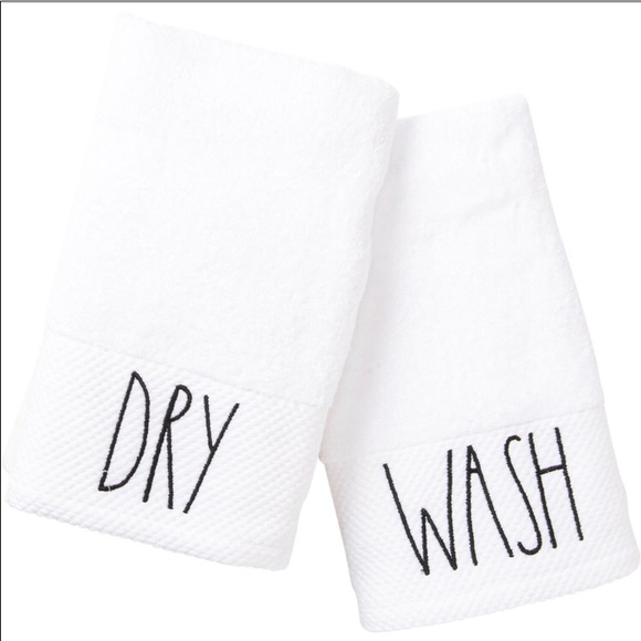 RAE DUNN HAND TOWELS Wash and Dry